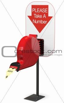 Ticket Dispenser - Isolated