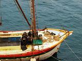 Vintage cargo ship