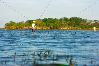 Fishing on Bali