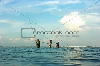 Fishermen on Bali