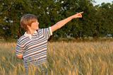 boy at the wheat field
