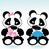 panda boy and girl