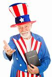 Uncle Sam With Bible - Welcoming