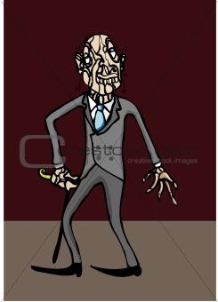 old victorian gentleman in suit