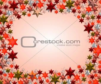 frame made of stars
