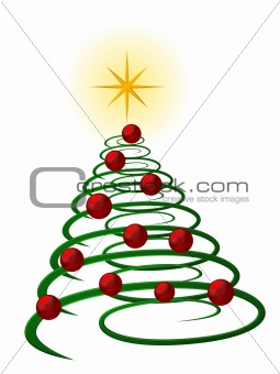 abstract christmas tree on white background