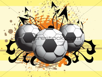 football with grunge background