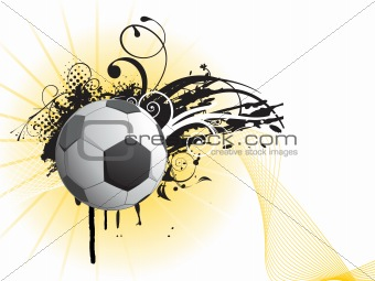 black grunge with swirl, soccer and net