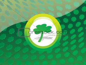 circle with shamrock background 17 march