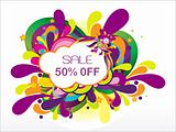 sale 50% off and many swirl, vector