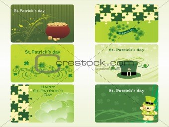 abstract six different design patric illustration