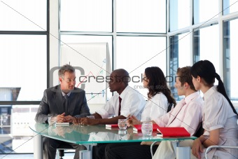 Business team interacting in a meeting