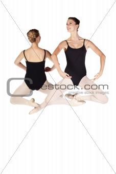 Young caucasian ballerinas