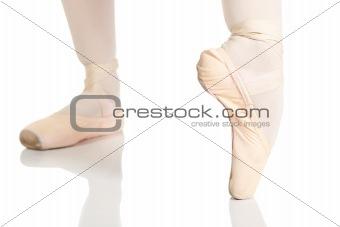 Young caucasian ballerina