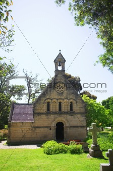 Old church with a cemetery
