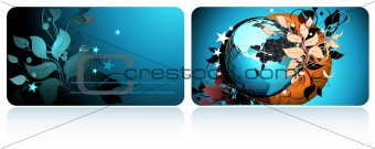cards with globe