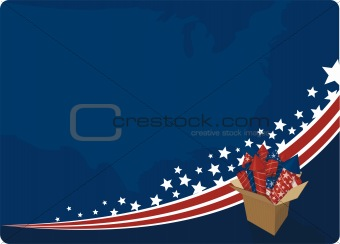4th July fireworks background