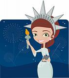 4th July statue of liberty