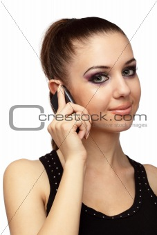 Attractive girl talking on a mobile phone