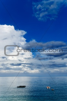 fishing boats on the ocean