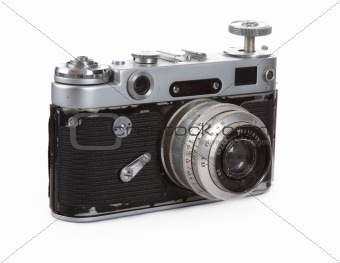 An old rangefinder camera