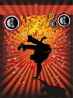 Break Dance Event Flyer