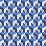 Blue cubes pattern