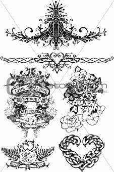 image 1925476 tattoo fancy crest emblem from crestock stock photos