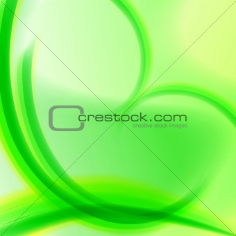 abstract green spirals