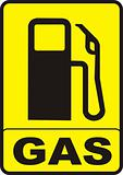 Gas Pump Caution Sign