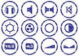 Gadget icons set.