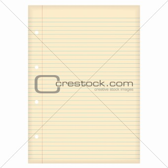 aged lined paper