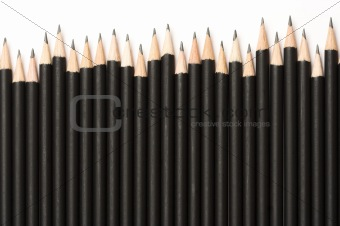 Black graphite pencils