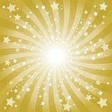 Abstract gold star background