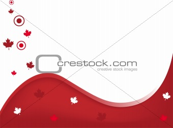Canada Wavy Background