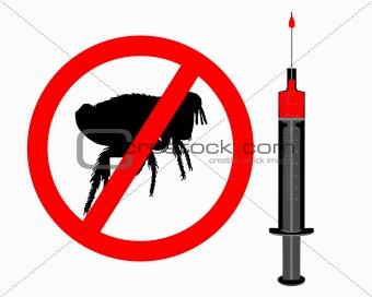 Inoculation against fleas