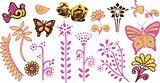 Children butterfly flower garden