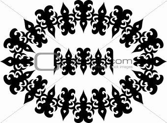 Decorative seamless vector border