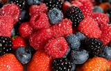 wet fresh berries background
