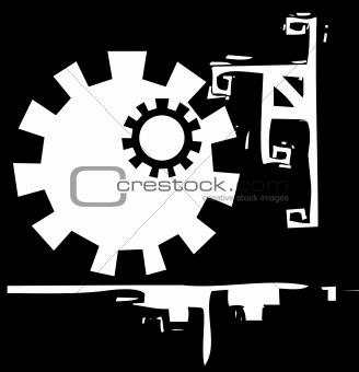 Abstract Gear Background #1