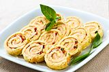 Mini sandwich spiral roll appetizers