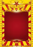gold circus poster