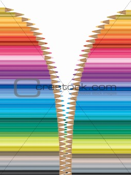 Bright colored pencil background
