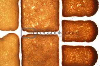 Bread varied slices on transparent background