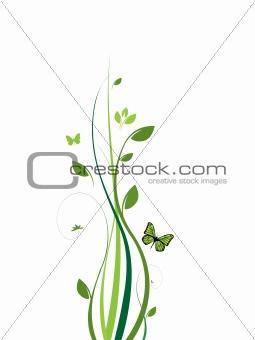 Clean elegant floral design