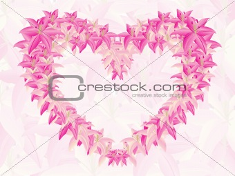 abstract--docorated heart shape with text