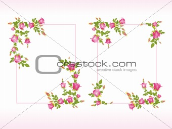 abstract-frame with bautiful flower