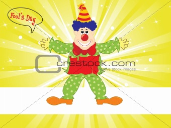 abstract cartoon clown, vector illustration