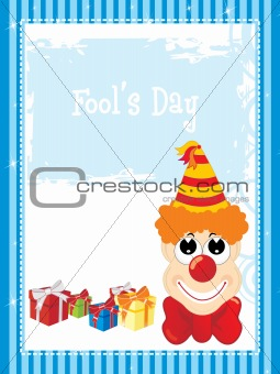 background with gift and cartoon