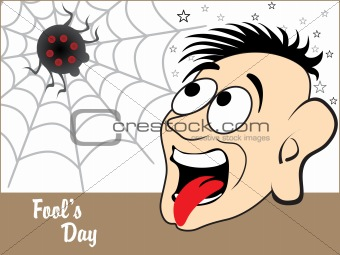 background with funny face, spider